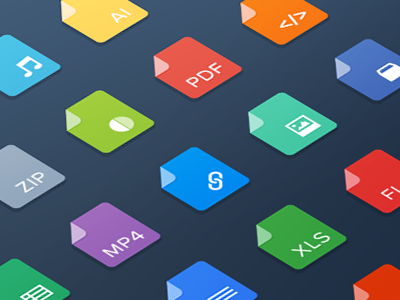 Icons flat ui minimal icons files type salesforce mobile