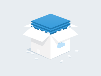 Box Icon box icon flat minimal salesforce illustration clean package apps ui white blue