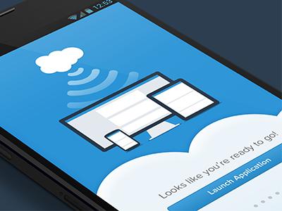 Onboarding onboarding ui mobile android phone app ios7 salesforce flat cloud iphone ipad