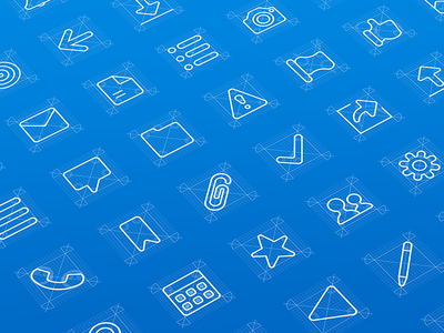 Icons exploration salesforce icons icon flat outline illustration grid ui clean iconography blueprint