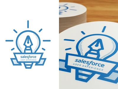 Salesforce UX Stickers salesforce ux stickers vector branding illustration typography logo print blue