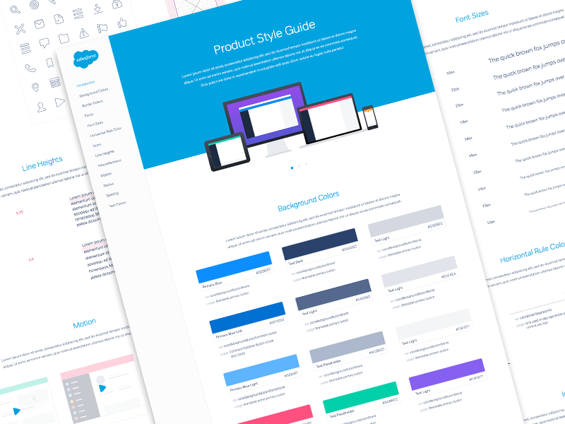 Salesforce UX Product Style Guide ui style guide ux product salesforce flat design blue branding