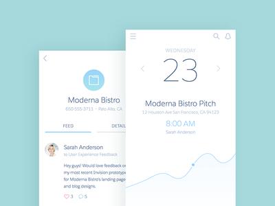 S1 Mobile App Concept illustration graph clean minimal ux concept app interface mobile salesforce