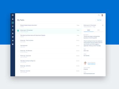 Tasks navigation interface layout flat minimal clean tasks web ui ux salesforce