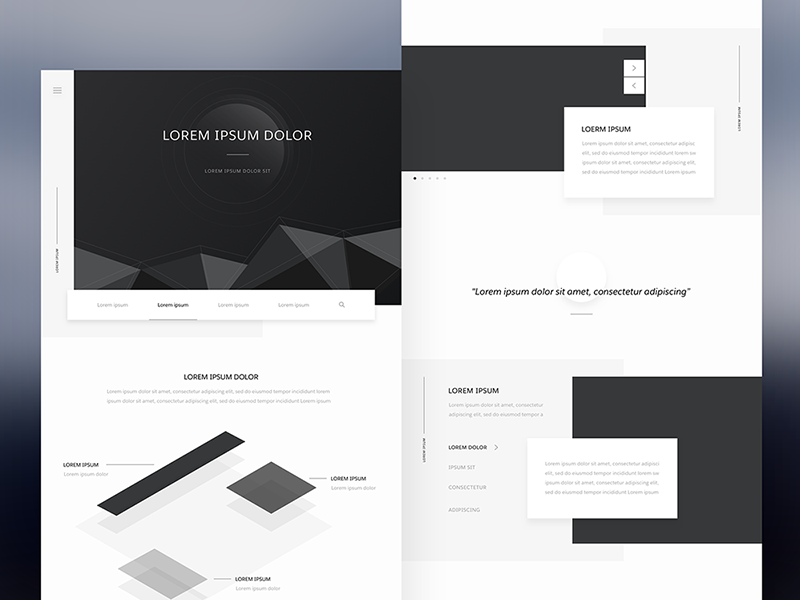 Homepage Redesign minimal isometric white black clean redesign homepage concept wireframe ux ui salesforce