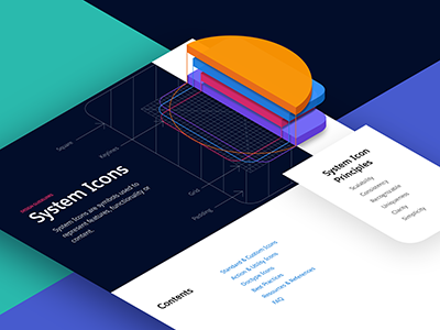 System Icons blueprint principles minimal style guides ui guidelines clean isometric system layout icons salesforce