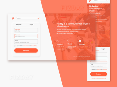 Fizday Homepage Redesign ui redesign homepage dailyui design challenge fiz fizday