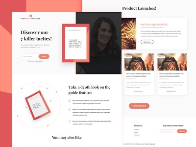 Profit from Products Landing Page ux designer ui designer ux ui blog website design website header digital marketing website laura phillips profit form products web ui landing page