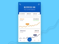 Crypto Currency App Dashboard
