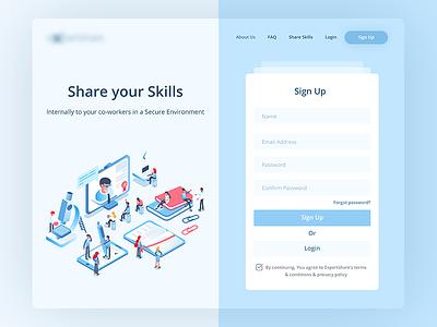 E Learning Platform Sign Up Screen ux designer minimal uiux design ux design ui design illustration e-learning web app login register sign up