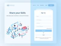 E Learning Platform Sign Up Screen