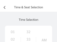 Time   seat selection