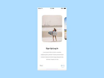 Onboarding Screens - Auto Animation in Adobe XD event app sport app app design onboarding animation onboarding screen interaction interaction design adobe xd video animation animation gif