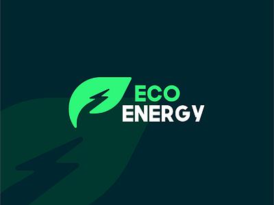 Eco Energy Logo logo leaf electric clean