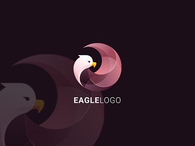 Eagle Gradient Logo eagle bird modern app logo website icon animal branding design vector logo