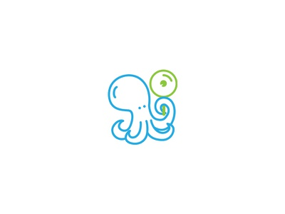 Octosearch Logo line logo flat simple search engine sea octopus vector animal mascot seo logo graphicriver