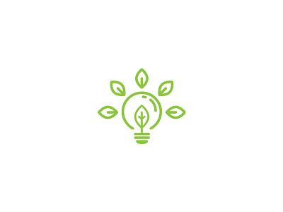 Nature Idea Logo line logo flat simple environment nature green vector leaf idea bulb logo graphicriver