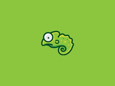 Chameleon Logo mascot logo flat simple cute tree green vector animal mascot chameleon logo graphicriver
