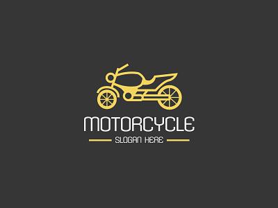 Motorcycle Logo classic flat simple engine garage road mechanic vintage repair motorcycle logo graphicriver
