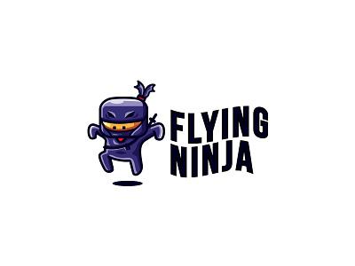 Flying Ninja Logo vector sale mascot japan fast quick logo ninja graphicriver