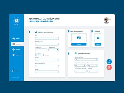 Registration Page Design dashboard app blue blue and white clean ui form design dashboad website uidesign uxui ui