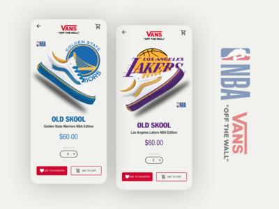 Vanz x NBA app concept