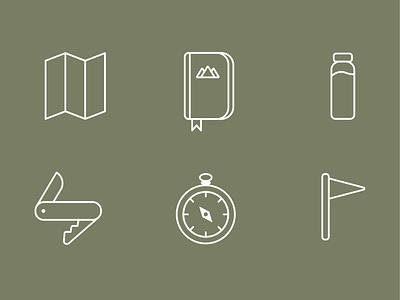 Hiking Icons iconography branding icon set icons
