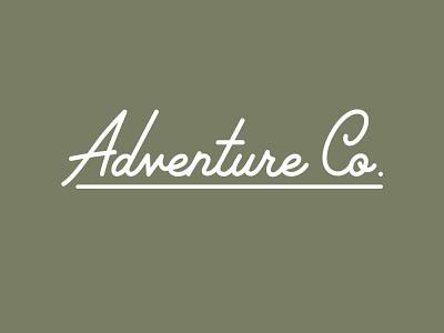 Adventure Co. wordmark adventure wordmark vector branding design logo