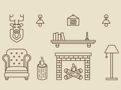 Home Sweet Home design illustration vector icons
