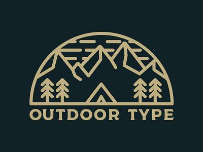 Outdoor Type outdoors badge adventure logo illustration icons vector design