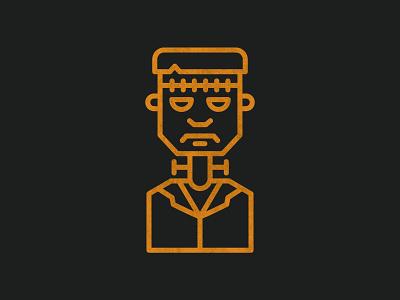 Frankenstein's Monster - Halloween 003 frankenstein logo halloween illustration icons vector design