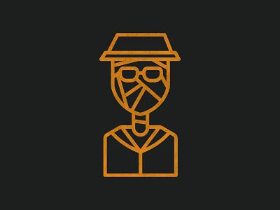 Invisible Man - Halloween 006 invisble man halloween logo illustration icons vector design