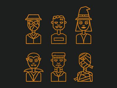 Halloween Characters - Halloween 008 character halloween logo illustration icons vector design