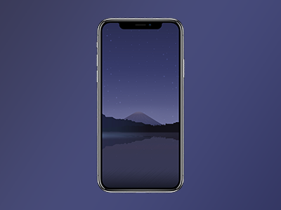 Moon Light Illustration Wallpaper For Iphone X By Nurtac Dribbble