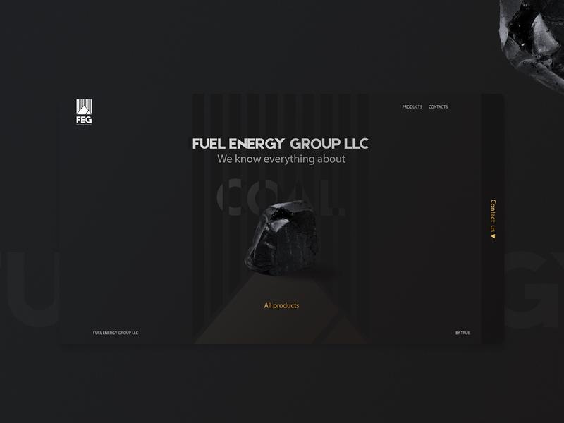 FEG - main site dark ui black coal main page mainpage site design landing page ux web design ui