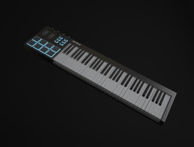 Keys music vrayforc4d vray keyboard 3d c4d design