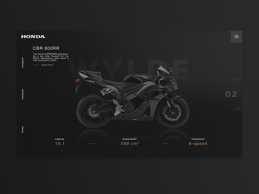 HondaConcept web ux ui design