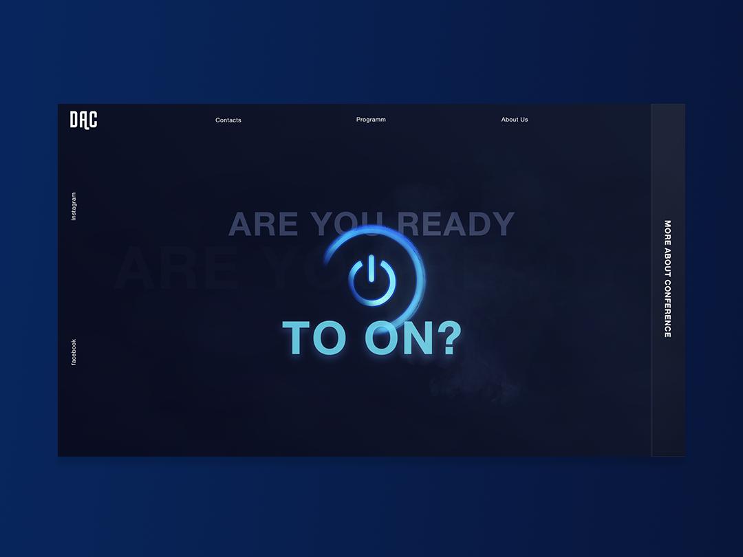Design conference branding web ui design