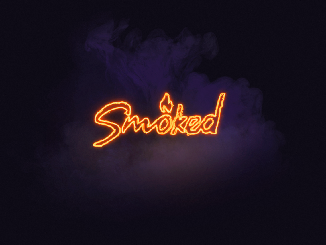 Smoked logo smoked smoke fire after affects fx vector typography logo design