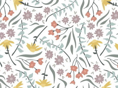 Pastel Floral pattern surface pattern illustration floral flowers