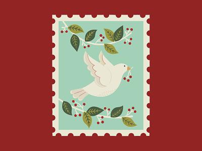 Turtle Doves leaves graphics surface pattern illustrator pattern print design illustration