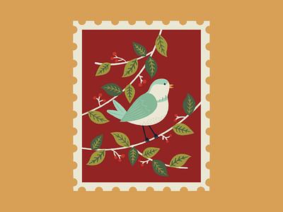 Four calling birds design birds christmas graphicdesign graphic illustration