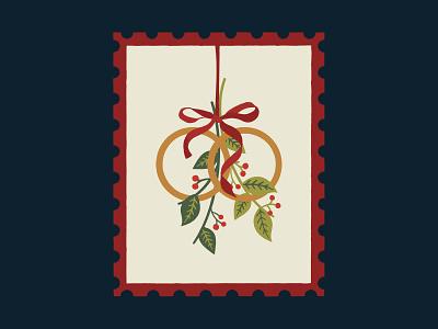 Five Gold Rings graphic christmas leaves graphics illustrator pattern print design illustration