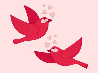 I hope you all had a lovely Valentines day! bird lovebirds graphic graphics illustrator print design illustration