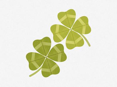 Four Leaf Clover st patricks leaf leaves graphic floral surface pattern graphics pattern illustrator print design illustration