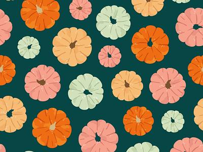 Pumpkin pattern graphics surface pattern illustration design print pattern autumn halloween pumpkin