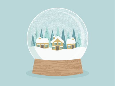 Day 1+2 - Snowglobe surface pattern graphics pattern print design illustraion illustrator snowglobe