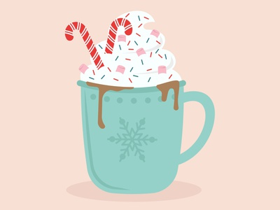 Candy Canes hot chocolate candy cane candy christmas graphic surface pattern graphics pattern illustrator print design illustration