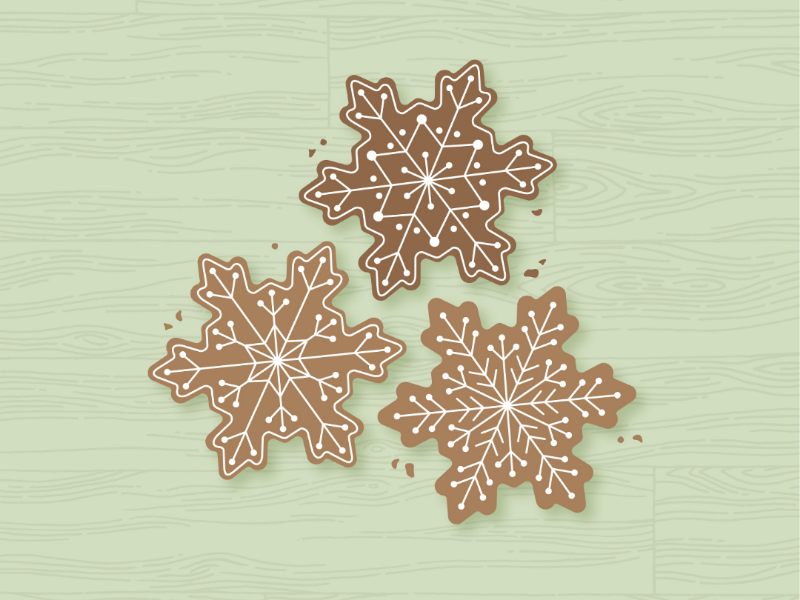 Christmas Cookies graphicdesigner graphics illustration illustrator snowflake cookies christmas