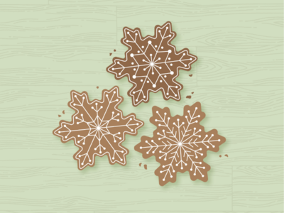 Christmas Cookies graphicdesigner graphics illustration illustrator snowflake cookies christmas